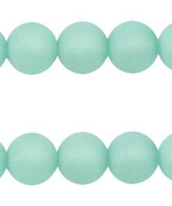Polaris kralen mat rond 12mm aqua blue