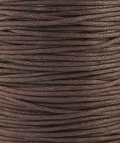 Waxkoord 1.0mm donkerbruin (1M)