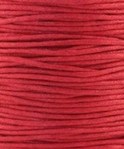 Waxkoord 1.5mm rood (1M)