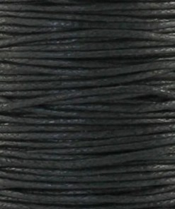 Waxkoord 2.0mm Zwart (1M)