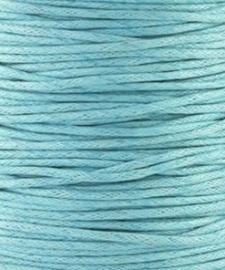 Waxkoord 1.5mm Aqua (1M)