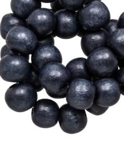 Houten Kralen Vintage Look (6 mm) Dark Blueberry