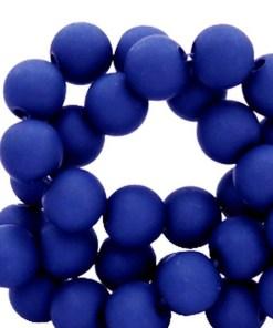6mm acryl kralen matt Dark princess blue
