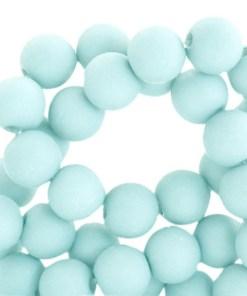 Acryl kralen matt 4mm Bleached aqua blue