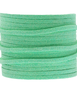 Faux suede 3mm Mint groen