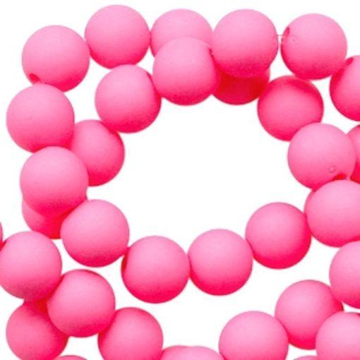 Acryl kralen mat Bright pink
