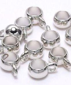 Kraal met oog 6mm zilver