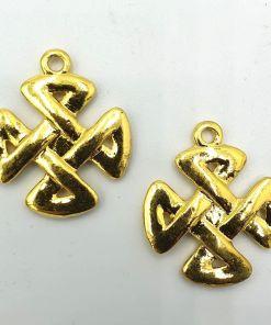 Keltische knoop 32x27mm goud