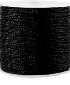 Metallic macramé draad 0.5mm zwart