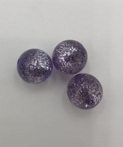 Acryl kralen Lila glitter 10mm