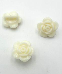 Acryl kraal bloem Ivoor 7x14mm