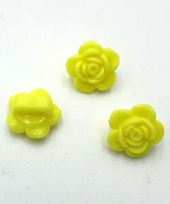 Acryl kraal bloem Geel 7x14mm