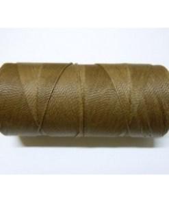 Braziliaans polyester waxkoord Medium bruin 1mm