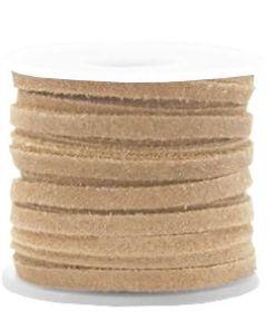Suède DQ plat 5mm Sand (per meter)