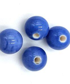 Keramiek kralen Blauw 12mm