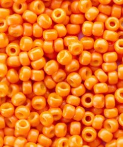 Miyuki rocailles 8/0 Duracoat opaque kumquat orange 8-4454