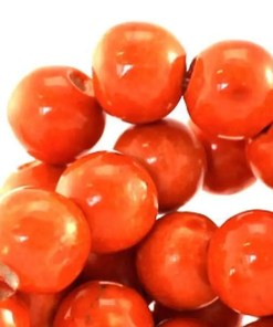 Kralen keramiek 8mm Oranje