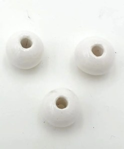 Keramiek kralen 10x8mm wit