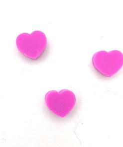 Polymeer kralen hartje 10mm paars