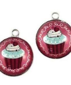 Metalen cupcake roze