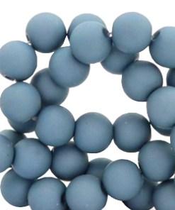 6 mm acryl kralen Cendre blue