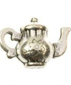 Metalen bedel koffiepot 10x15mm