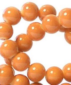 Glaskralen baked Oranje 8mm