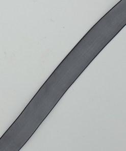 Organza Antraciet grijs lint 15mm
