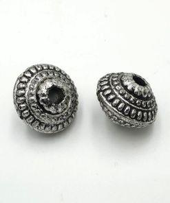Metallook kraal 20x14mm antiek zilver