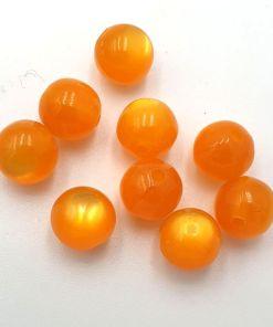 Glaskralen cateye oranje 8mm