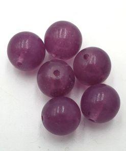 Glaskralen Oud aubergine 12mm