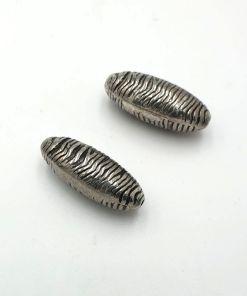 Metallook kraal ovaal 30x12mm
