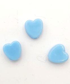 Acryl kralen hartje 8mm Blauw