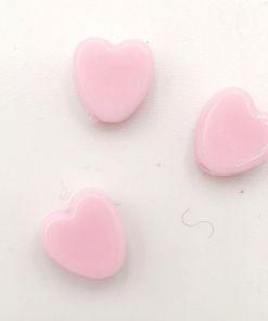 Acryl kralen hartje 8mm roze