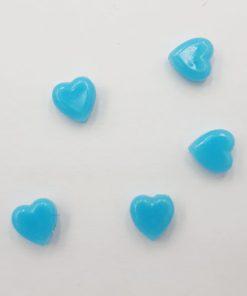 Acryl kralen hartje 6mm Blauw
