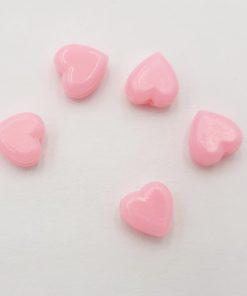 Acryl kralen hartje 6mm Roze