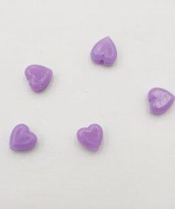 Acryl kralen hartje 6mm Paars
