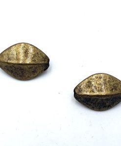 Metallook kralen ovaal 23x15mm brons