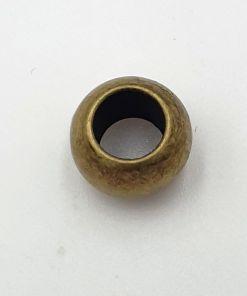Metallook kralen rond glad 12mm brons