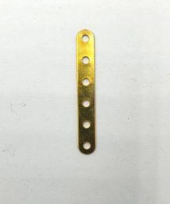Metalen 6 gats verdeler goud 35mm