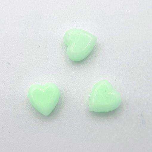 Acryl kralen hartje 6mm Lichtgroen