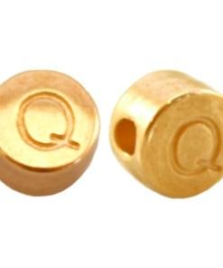 DQ metalen letterkraal Q Goud