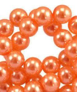 Acryl parels 6mm oranje