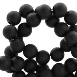 Acryl kralen mat 10mm Black