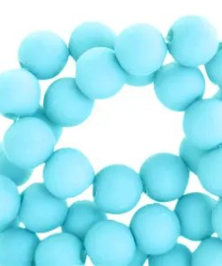 8mm acryl kralen matt Vivid sky blue