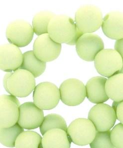 v6mm acryl kralen matt Lime green