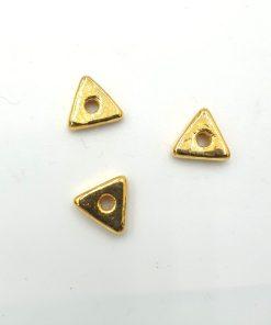 Glaskralen goud driehoek 10mm