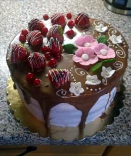 Dort s ovocem a čokoládou