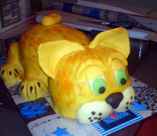 Dětský dort kočička