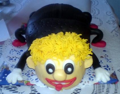 Dětský dort jako blonďatý pavouček
